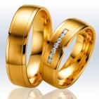 Alianças em ouro amarelo