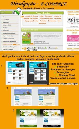 Divulgação E-commerce - Valor para Contrato Anual - R$ 828,00 ao Ano.  Dividimos em 12X no Cartão + R$ 120,00 de Entrada.