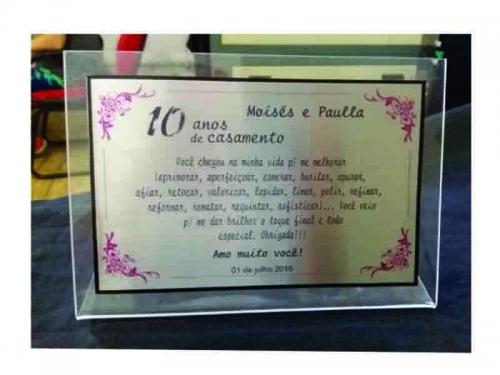 Placa para Homenagem com Base em Acrílico
