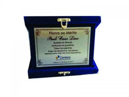 Placa para Homenagem com Logo