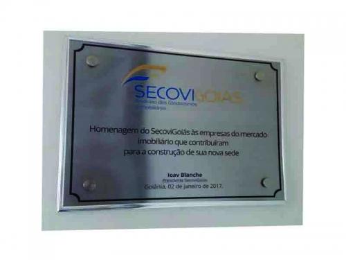 Placa para Inauguração