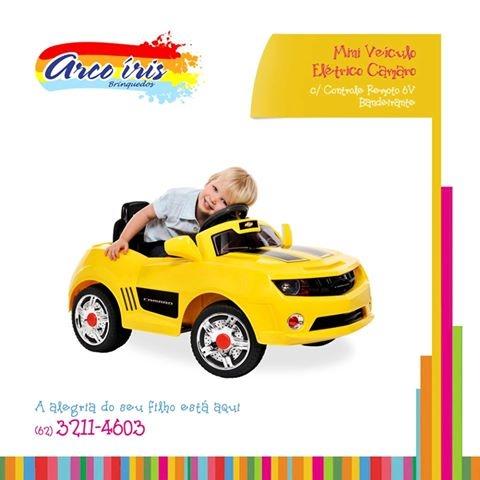 Camaro amarelo Eletrico 6v Bandeirante