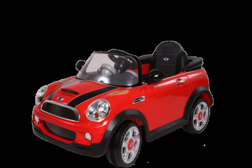 Mini Cooper Eletrico Controle Vermelho 6V