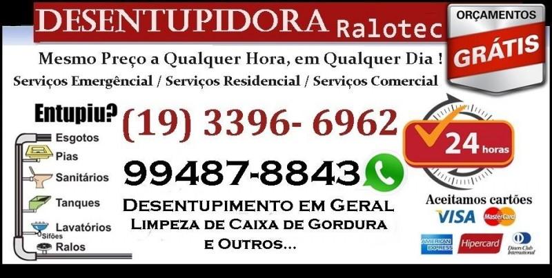 Desentupidora Ralotec em Campinas 3396-6962