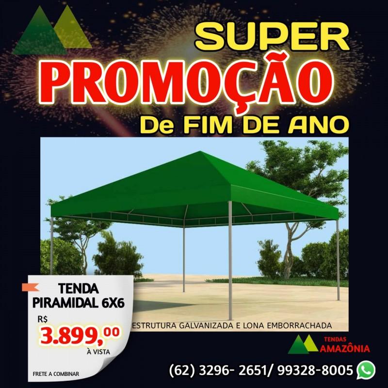 SUPER PROMOÇÃO DE FINAL DE ANO TENDA PIRAMIDAL 6X6