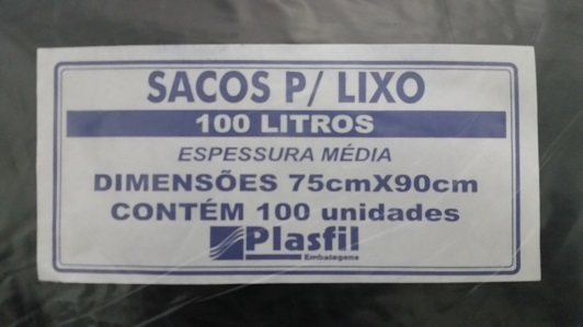 saco de lixo 100L md pt plasfil