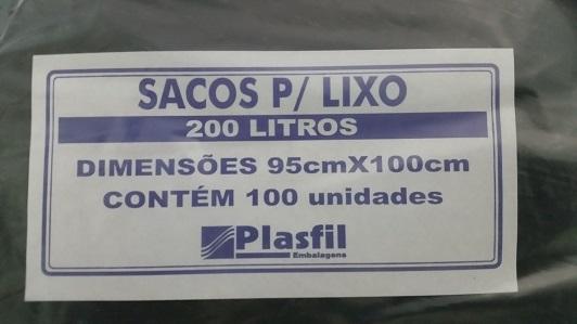 Saco de lixo 200L pt plasfil