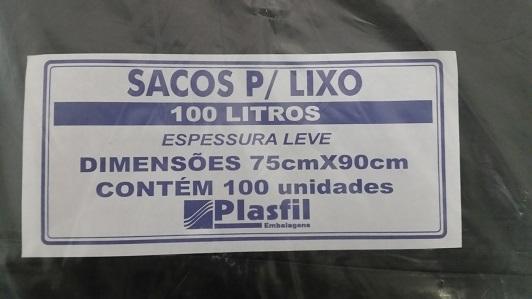 Saco de lixo 100L lv pt plasfil