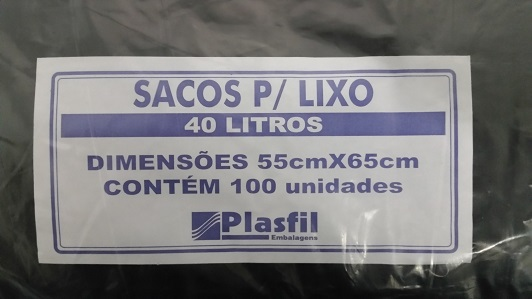 Saco lixo 40L pt plasfil
