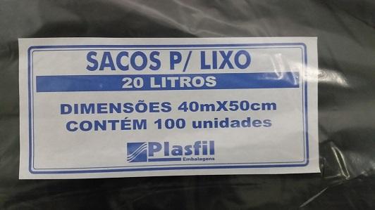 Saco de lixo 20L pt plasfil