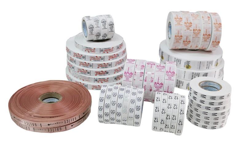 Etiquetas Impressas Cetim e Nylon