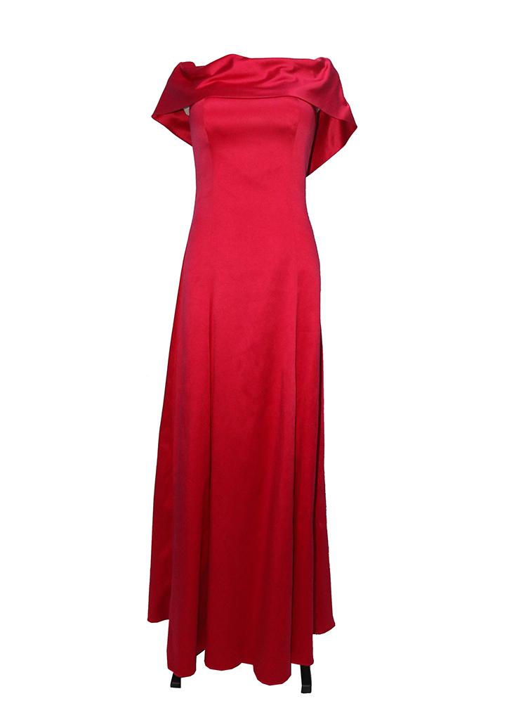 Vestido Madrinha Vermelho 01