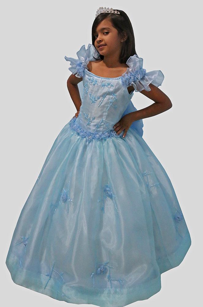 Vestido Daminha Azul 07