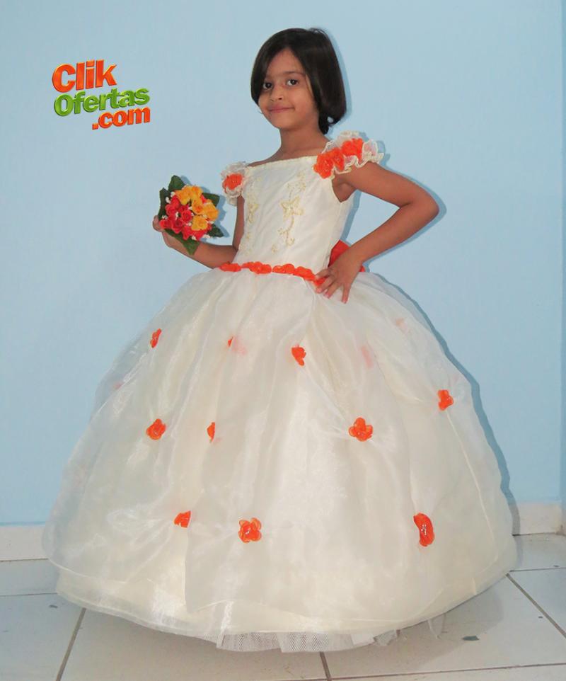 Vestido De Daminha de Honra - Gabi Chapinho