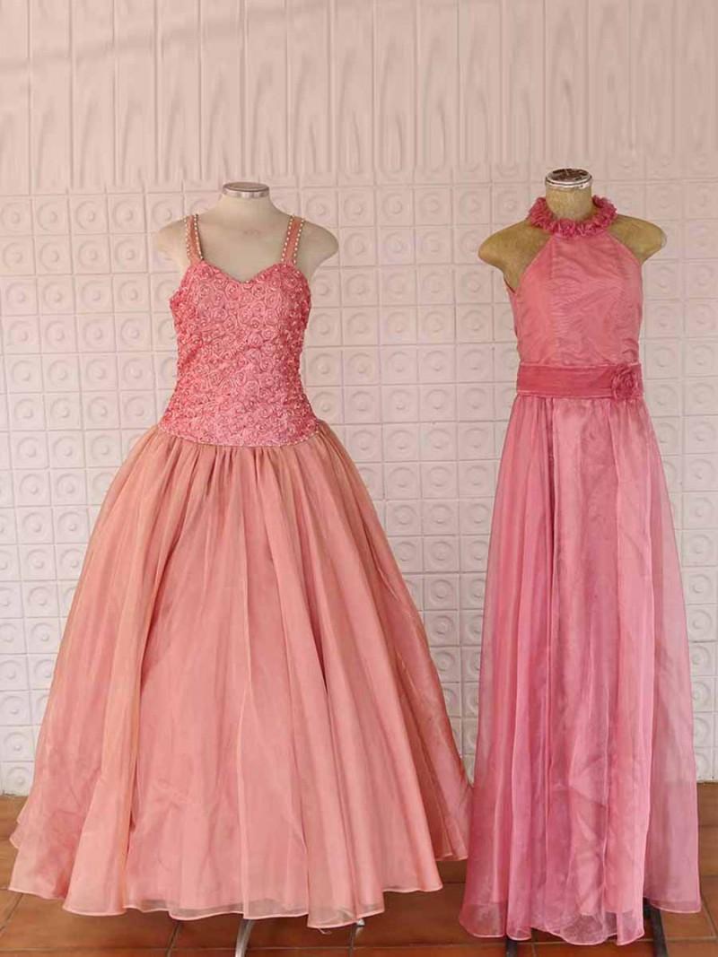Vestido Dama Moça Rosê