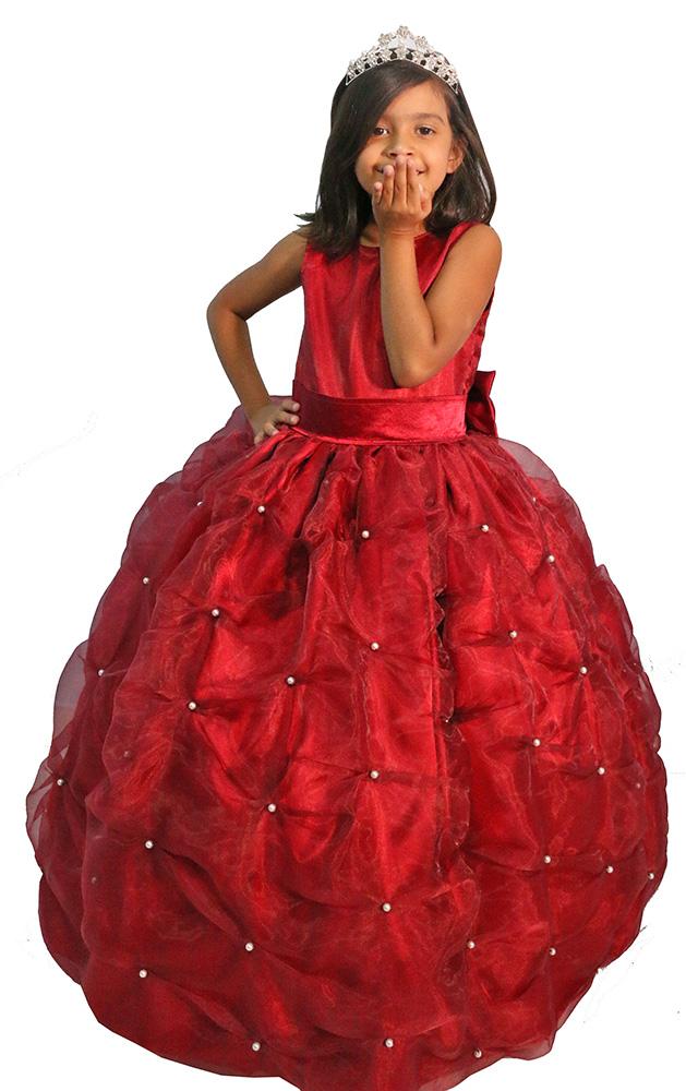 Vestido Daminha Vermelho 04