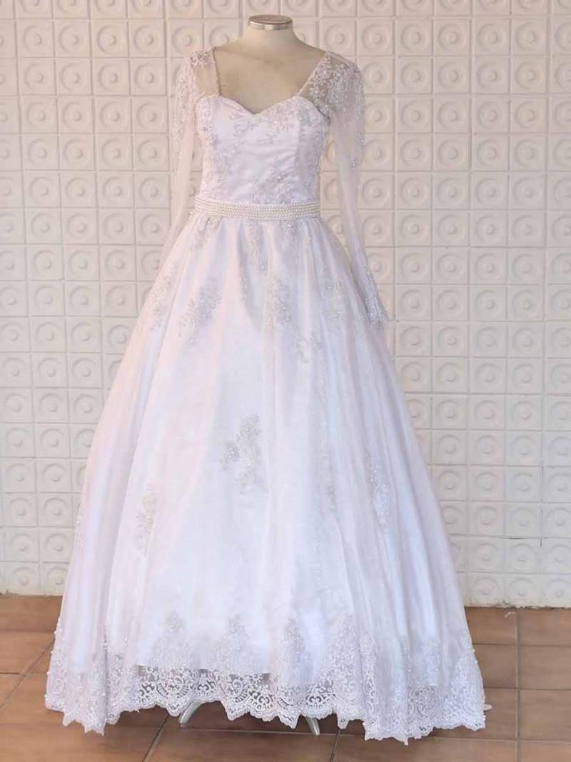 Vestido Rayane - Bordado em Pérola