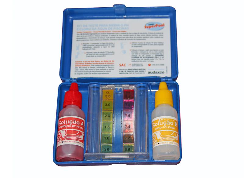 Kit de Teste para Medição de Ph e Cloro