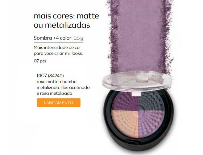 Sombra 4+ Color - Mais Cores, Mate ou Metalizada - Linha Aquarela
