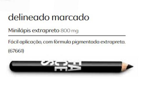 Lápis para Olhos - Mini Lápis Extra Preto - Linha Faces
