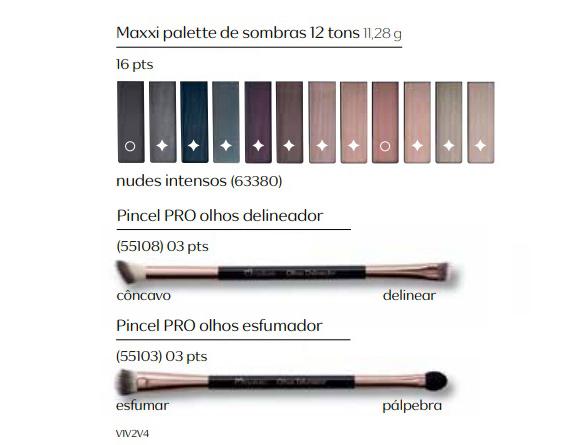 Maxxi Palette de Sombras 12 Tons Nudes Intensos - Linha Una
