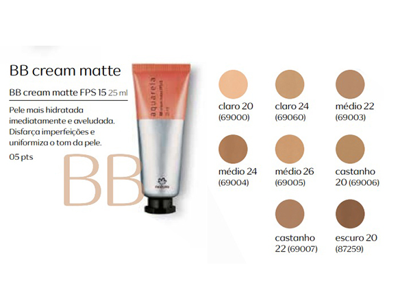 Base BB Cream Matte FPS 15 - 25 ml - Linha Aquarela