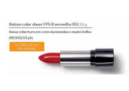 Batom Color Sheer Vermelho - Linha Aquarela