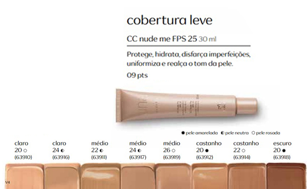 Base CC Nude me - FPS 25 - 30 ml - Linha Una