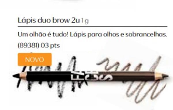 Lápis para Olhos e Sobrancelhas Duo Brow - Linha Faces