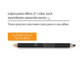 Lápis para Olhos 2+ Color Azul Marinheiro e Amarelo Areia - Linha Aquarela