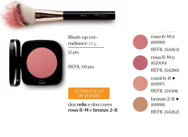 Blush Up Cor Radiante - Completo ou Refil - Linha Una