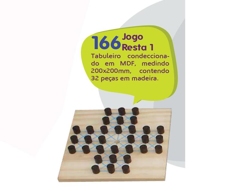 Jogo de Tabuleiro - Resta Um - 32 Peças