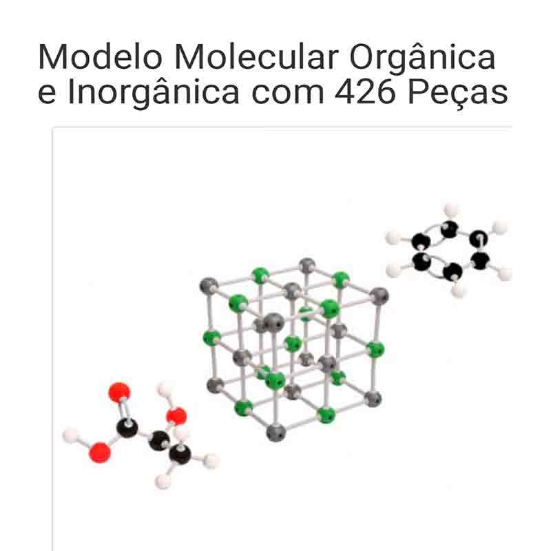 Modelo Molecular Orgânico e Inorgânico 426 Peças