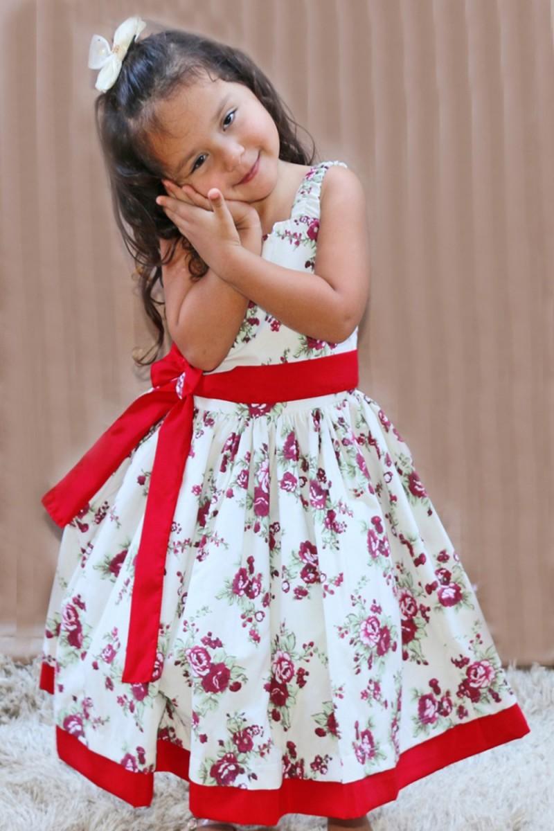 Vestido Infantil Renata de 0 á 10 Anos