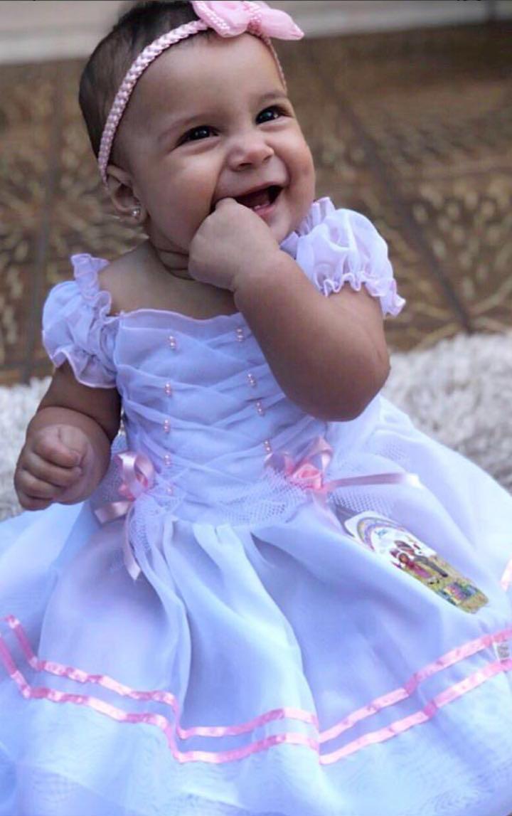 vestido para batizado