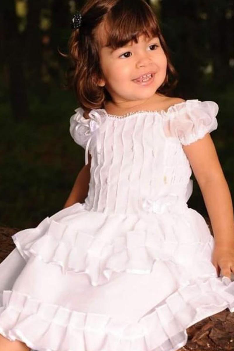 Vestido para Batizado - De 0 á 6 anos