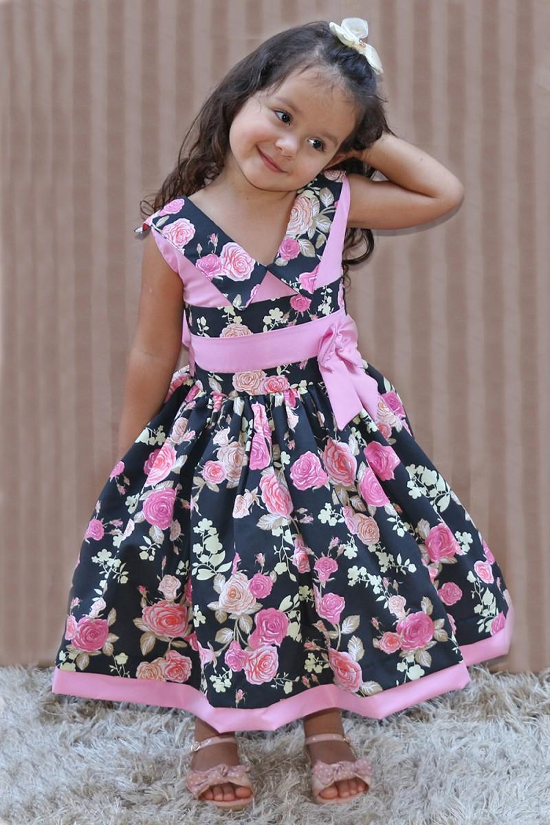 Vestido Infantil Ana - De 0 á 10 anos