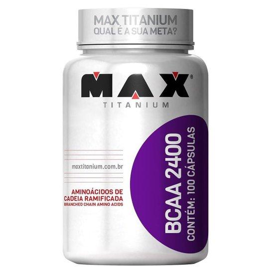 Aminoácidos - Bcaa 2400 -  100 caps Max Titanium