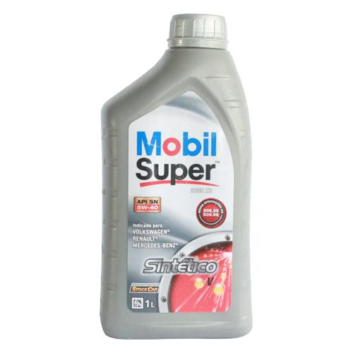 Óleo para motor MOBIL Super 5W-40 Sintético Flex Vermelho